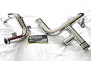 Ford Mustang Cobra V8 Steel Piping AFTER Chrome-Like Metal Polishing and Buffing Services