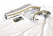 Toyota Supra Aluminum Turbo Piping AFTER Chrome-Like Metal Polishing and Buffing Services