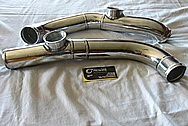 Aluminum Engine Intercooler Pipes BEFORE Chrome-Like Metal Polishing and Buffing Services / Restoration Services