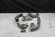 Toyota Supra 2JZ-GTE Aluminum Turbo Pipes BEFORE Chrome-Like Metal Polishing and Buffing Services / Restoration Services