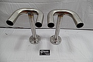 Aluminum Faucet Tubing Pipe BEFORE Chrome-Like Metal Polishing and Buffing Services / Restoration Service