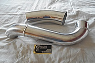 Toyota Supra 2JZ-GTE Aluminum Intercooler Pipe / Air Intake Pipe BEFORE Chrome-Like Metal Polishing and Buffing Services / Restoration Service