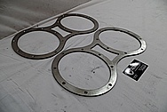 Stainless Steel Boat Exhaust Flanges BEFORE Chrome-Like Metal Polishing - Stainless Steel Polishing