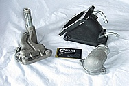 2007 Ford Shelby GT500 Aluminum Supercharger Intake Pipe Part BEFORE Chrome-Like Metal Polishing and Buffing Services
