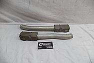 Chevrolet ZR-1 Corvette Aluminum Pipes BEFORE Chrome-Like Metal Polishing - Aluminum Pipe Polishing