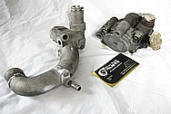 1993 - 1998 Toyota Supra Upper Water Pipe Part BEFORE Chrome-Like Metal Polishing and Buffing Services