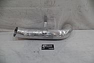 Dodge Hemi 6.4L Aluminum Pipe for 1973 Duster BEFORE Chrome-Like Metal Polishing - Aluminum Polishing Services