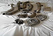 Aluminum Pipes BEFORE Chrome-Like Metal Polishing - Aluminum Polishing Services