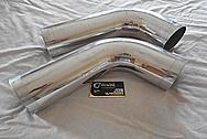 Aluminum Engine Pipes BEFORE Chrome-Like Metal Polishing - Aluminum Polishing Services