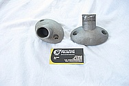 Aluminum V8 Engine Thermostat Housing BEFORE Chrome-Like Metal Polishing and Buffing Services