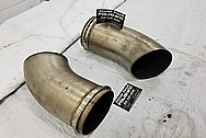 Stainless Steel Exhaust Pipe BEFORE Chrome-Like Metal Polishing and Buffing Services - Stainlees Steel Polishing