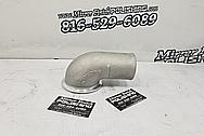 Aluminum Pipe BEFORE Chrome-Like Metal Polishing and Buffing Services - Aluminum Polishing