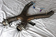 Ford Mustang Cobra Stainless Steel Bassani X-Pipe Exhaust Pipe System BEFORE Chrome-Like Metal Polishing and Buffing Services