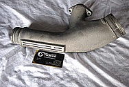 Nissan Skyline Aluminum Intercooler Pipe BEFORE Chrome-Like Metal Polishing and Buffing Services / Restoration Services