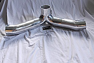 Aluminum Intake Pipe System BEFORE Chrome-Like Metal Polishing and Buffing Services / Restoration Services