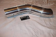Aluminum Intercooler Pipe BEFORE Chrome-Like Metal Polishing and Buffing Services / Restoration Services