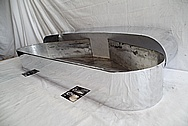 Aluminum Pool Table Parts - Leg Bands AFTER Chrome-Like Metal Polishing and Buffing Services - Aluminum Polishing