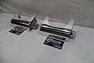 Aluminum Pool Table Parts - Side Pockets AFTER Chrome-Like Metal Polishing and Buffing Services - Aluminum Polishing