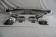 Aluminum Pool Table Parts - Leg Bands, Side Pockets and Corner Pockets AFTER Chrome-Like Metal Polishing and Buffing Services - Aluminum Polishing