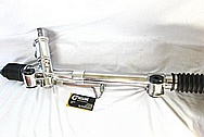 Aluminum Power Steering Rack Assembly / Lines AFTER Chrome-Like Metal Polishing and Buffing Services / Restoration Services