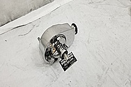 Steel Power Steering Pump AFTER Chrome-Like Metal Polishing - Aluminum Polishing - Steel Polishing