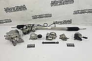 Toyota Supra Aluminum Power Steering Pump Parts BEFORE Chrome-Like Metal Polishing - Aluminum Polishing - Power Steering Pump Polishing
