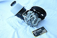 Dodge Hemi 6.1L Engine Aluminum Power Steering Pump BEFORE Chrome-Like Metal Polishing and Buffing Services