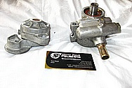 2000 Chevy Corvette Aluminum Power Steering Pump BEFORE Chrome-Like Metal Polishing and Buffing Services / Restoration Services
