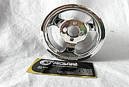 Aluminum, Black Coated Supercharger Pulley AFTER Chrome-Like Metal Polishing and Buffing Services / Restoration Services
