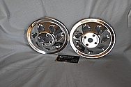 Aluminum V8 Engine Pulleys AFTER Chrome-Like Metal Polishing and Buffing Services / Restoration Services
