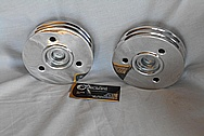 Aluminum / Steel V8 Engine Pulleys AFTER Chrome-Like Metal Polishing and Buffing Services / Restoration Services