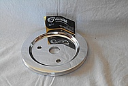 Aluminum V8 Engine Pulley AFTER Chrome-Like Metal Polishing and Buffing Services / Restoration Services