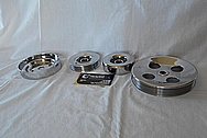 Steel V8 Pulleys AFTER Chrome-Like Metal Polishing and Buffing Services / Restoration Services