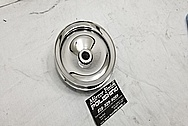 Steel Power Steering Pump Pulley AFTER Chrome-Like Metal Polishing - Steel Polishing