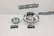 Aluminum Engine Pulleys AFTER Chrome-Like Metal Polishing and Buffing Services - Aluminum Polishing