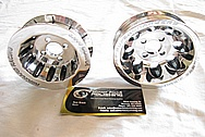 Ford Mustang V8 Pulley AFTER Chrome-Like Metal Polishing and Buffing Services
