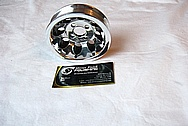 Ford Mustang Aluminum Pulley BEFORE Chrome-Like Metal Polishing and Buffing Services
