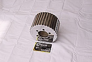 Aluminum Supercharger / Blower Pulleys AFTER Chrome-Like Metal Polishing and Buffing Services