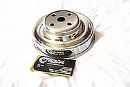 Steel Engine Pulley's AFTER Chrome-Like Metal Polishing and Buffing Services