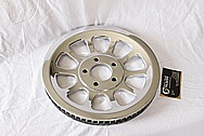 Aluminum Motorcycle Belt Pulley AFTER Chrome-Like Metal Polishing and Buffing Services / Restoration Services