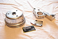 1967 Chevy Camaro V8 Pulley BEFORE Chrome-Like Metal Polishing and Buffing Services