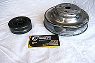 Steel Engine Pulley's BEFORE Chrome-Like Metal Polishing and Buffing Services