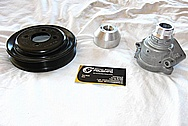 1950 Led Sled Mercury Steel Pulley BEFORE Chrome-Like Metal Polishing and Buffing Services / Restoration Services