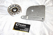 Aluminum Engine Pulley BEFORE Chrome-Like Metal Polishing and Buffing Services / Restoration Services