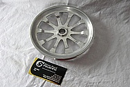 2000 CHEVY Corvette Aluminum Engine Pulley BEFORE Chrome-Like Metal Polishing and Buffing Services / Restoration Services