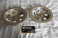 Aluminum V8 Engine Pulleys BEFORE Chrome-Like Metal Polishing and Buffing Services / Restoration Services