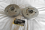 Aluminum / Steel V8 Engine Pulleys BEFORE Chrome-Like Metal Polishing and Buffing Services / Restoration Services