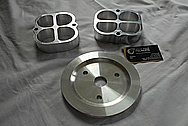Aluminum V8 Engine Pulley BEFORE Chrome-Like Metal Polishing and Buffing Services / Restoration Services