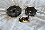 Steel V8 Pulleys BEFORE Chrome-Like Metal Polishing and Buffing Services / Restoration Services