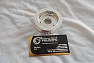 Aluminum Engine Pulley BEFORE Chrome-Like Metal Polishing - Aluminum Polishing